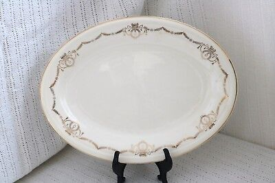 "Edwin M Knowles - ADAMS - U.S.A. Semi Vitreous - 11 1/2"" Oval Serving Platter"