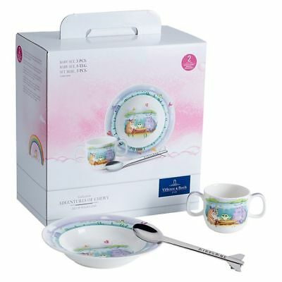 NEW Villeroy & Boch Lily in Magicland 3-Piece Baby Set