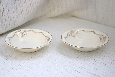"Edwin M Knowles China Co - ADAMS - U.S.A. - Semi Vitreous 5 3/8"" Berry Bowls (2)"