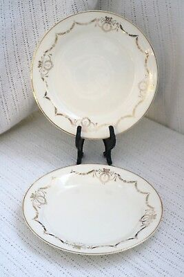 "Edwin M Knowles China Co - ADAMS - U.S.A. Semi Vitreous 7 1/2"" Salad Plates (2)"