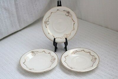 "Edwin M Knowles China Co- ADAMS - U.S.A. Semi Vitreous - 6"" Saucers (3)"