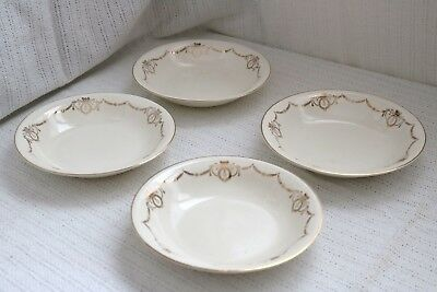 "Edwin M Knowles China Co- ADAMS - U.S.A. Semi Vitreous - 8"" Soup Bowls (4)"