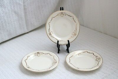 Edwin M Knowles China Co- ADAMS - U.S.A. Semi Vitreous Bread & Butter Plates (3)