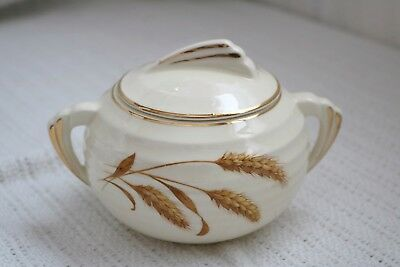 "Edwin M. Knowles - GOLDEN WHEAT - Yorktowne - 817E4 - 3""h - Sugar Bowl with Lid"