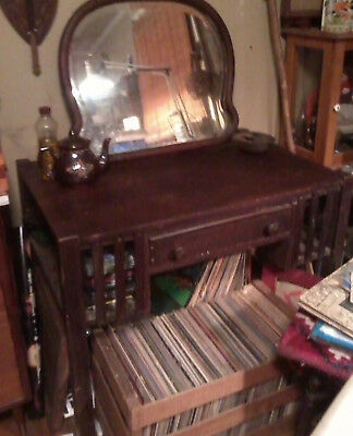 Original Antique Mission Writing Desk Table
