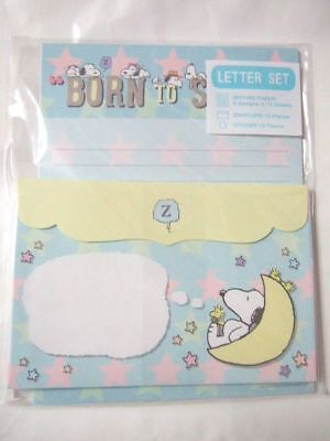 Snoopy blue letter set NEW -Born to Sleep
