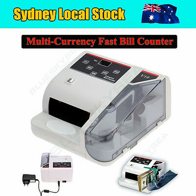 Money Bill Counter Fast Counting Machine UV & MG Cash 100-240V 600 Bills/Minute