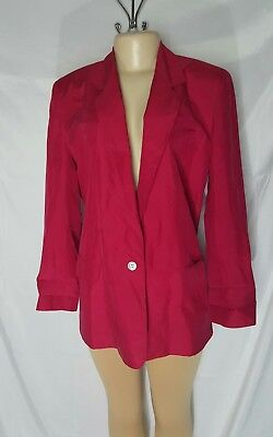 WOMENS Nordstrom's Point of View Collection PINK 100%Silk Jacket Size 10 (D-29)