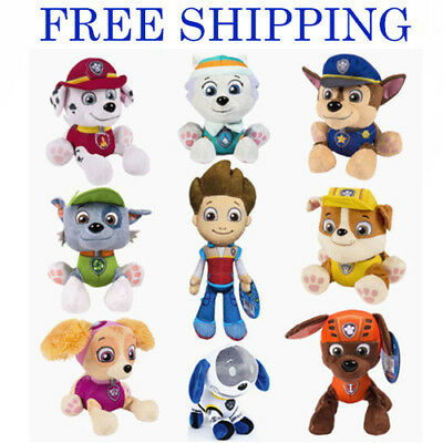 Pup Figures Kids Toy Paw Patrol Baby Boy Girl Xmas Gift Soft Plush Dog Doll New