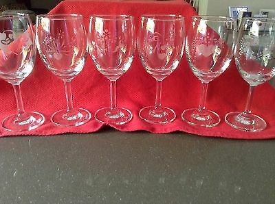 Hand Etched Wine Glasses