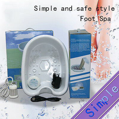 New Ion Detox Foot Bath Cell Cleanse Ionic SPA hine Set with Tub Array White Pop