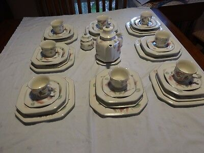 MIKASA Continental Silk Flowers dinner set for 8(complete)