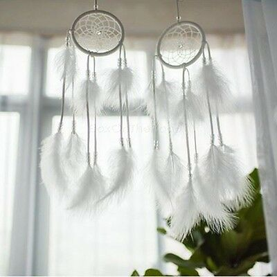 Handmade Dream Catcher With Feathers Wall Car Hanging Decor Ornament Traditional