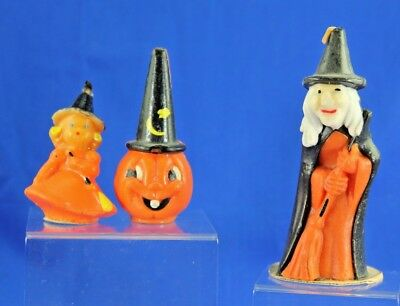 Group Of 3 Vintage Halloween Candles Gurley And Others