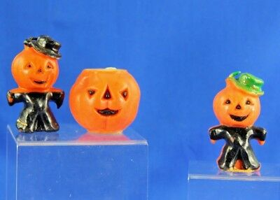 Group Of 3 Vintage Halloween Candles Gurley And Others Jol