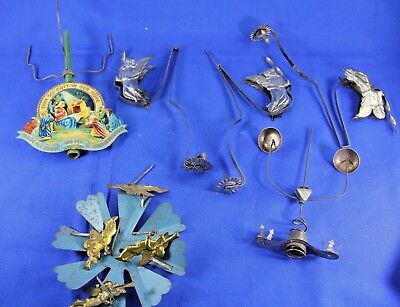 Antique Tin Litho Christmas Chimes From Two Sets For Repair