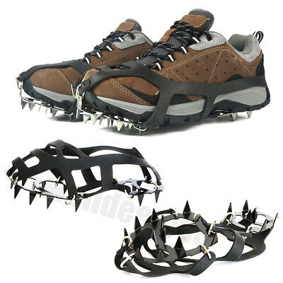 1 Pair Ice Snow Climbing Anti-slip Shoes Cover Spike Cleats Crampons 18 Teeth