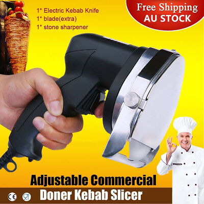 AU STOCK Doner Kebab Slicer 100W Meat Knife Commercial Machine BBQ Tool