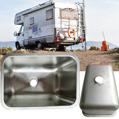 1pc RV Caravan Camper Boat Stainless Steel 304Hand Wash Basin Kitchen Sink Pop