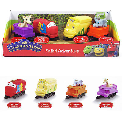 Chuggington Safari Adventure Set JST38560 Spielset Playset Lokomotive 4 Tlg