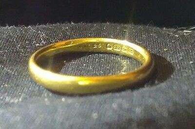 antique 1848 22ct gold ring with english hallmarks sac&s makers mark vintage uk