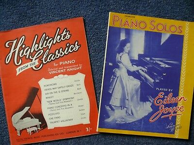 2 books of classical sheet music for piano