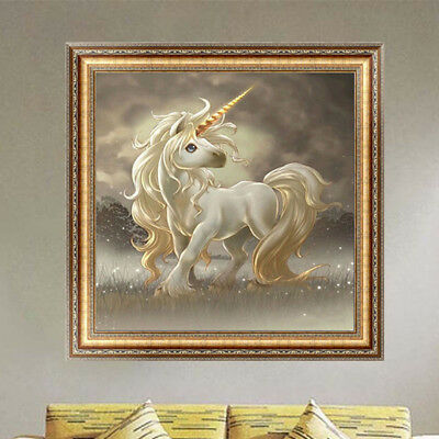 DIY 5D Unicorn Diamond Cross Stitch Horse Embroidery Painting Crafts Home Decor