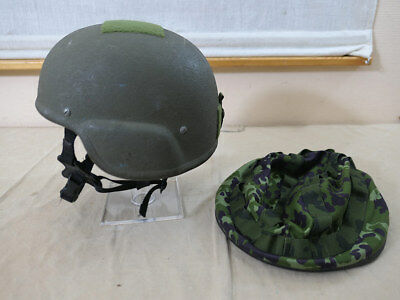 #552 Dänemark Tactical Ballistic Combat Helmet Level IIIA Gefechtshelm L + Cover