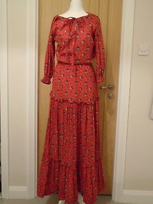 LAURA ASHLEY vintage dress in size 12.  Gypsy style with tiers. Vibrant colour