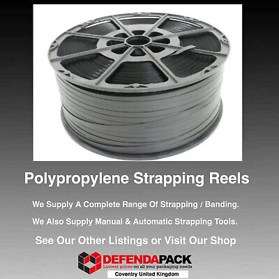 1 x 260kg 12mm x 1000m Polypropylene PLASTIC PALLET STRAPPING BANDING REELS COIL