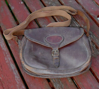 Canvas and Leather 75 Capacity Cartridge Bag Vintage