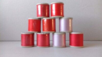 9 Vintage Coats Cotton Reels = Mixed Colours