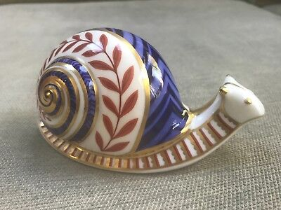 Royal Crown Derby Paperweight Original Snail Mint Condition Original Box