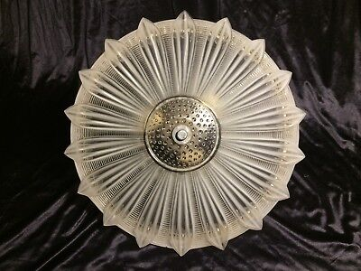 VINTAGE ART DECO FROSTED GLASS SUNFLOWER CHANDELIER project piece