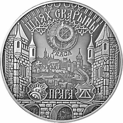 Belarus 2017 20 rubles Skaryna's Way. Praha 1 oz Proof Silver Coin