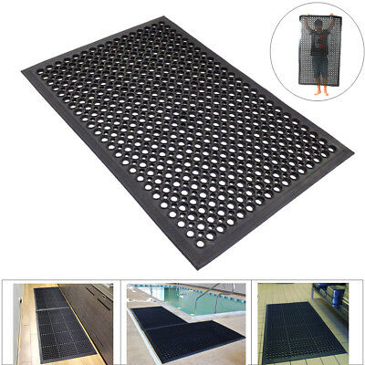 "36""x 60"" Kitchen Restaurant Floor Mat Anti Fatigue Commercial Entrance Mat Black"