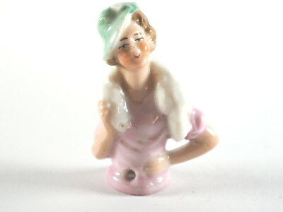 Vintage Old Small Porcelain Lady Figure, Doll (G952)