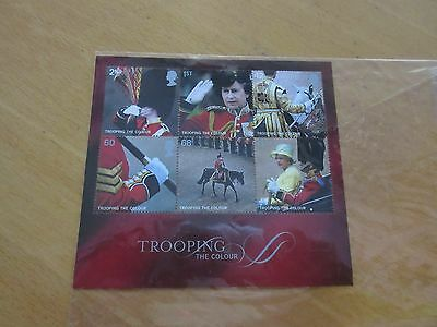 GREAT BRITAIN 2005 Trooping the colour Mini Sheet. Unmounted. MNH