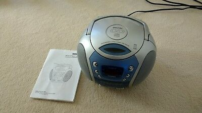 Portable cd player and radio. Never used. With manual.