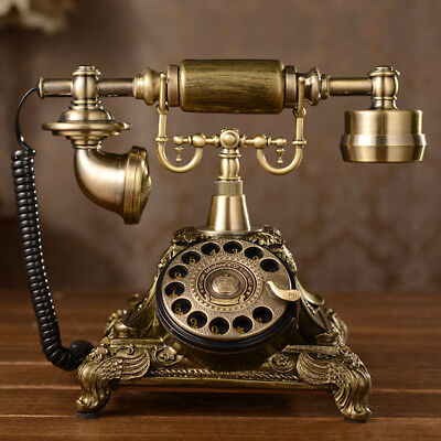 Vintage Antique Style Phone Old Fashioned Retro Handset Old Telephone Office Pop