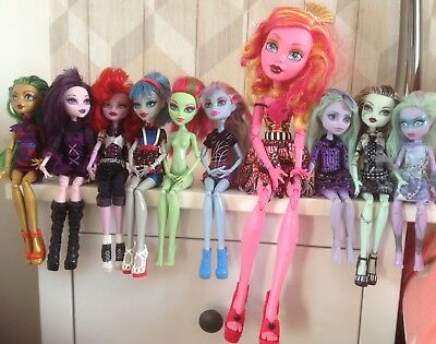 Monster High Doll Bundle - 10 Dolls