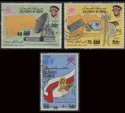 Oman Sc # 190a-190c SURCHARHED Cat $ 3150 Complete Fine Used Set. Extremely Rare