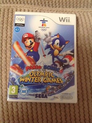 Wii Mario & Sonic At The Olympic Games Empty Box Only