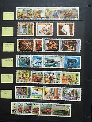 Dominica Stamps - 20 loose leaf pages