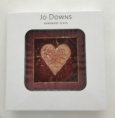 Genuine Jo Downs Bespoke Fused Glass 22 cm Dish Direct From The Gallery