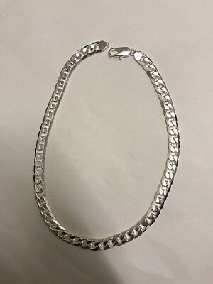 925 Sterling Silver Necklace 22 Inches 12mm 96g