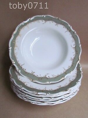 "ROYAL DOULTON FONTAINEBLEAU SET OF EIGHT 8"" LIPPED SOUP BOWLS 1ST QUAL(Ref2506)"