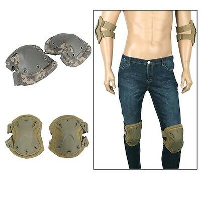 Military Knee Protector Tactical Combat Protective Pads Sets Gear Sports Hunting