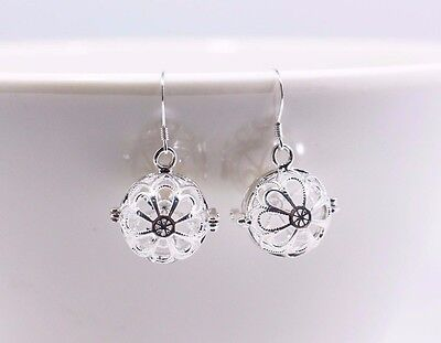20mm Crystal Perfume Locket Earrings Aroma Essential Oil Diffuser Drop Earrings Jewelry & Watches Aromatherapy