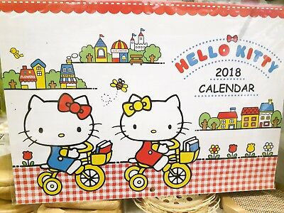 NEW HELLO KITTY SANRIO 2018 Hanging Calendar A4 (Japan import)